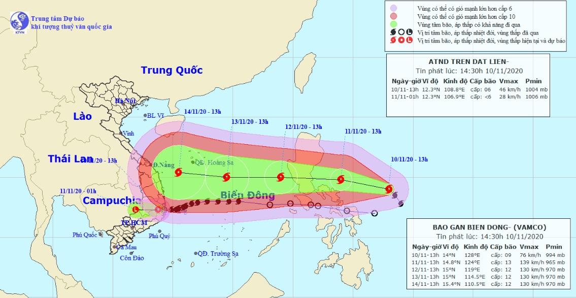 Bão số 12 Etau vừa suy yếu, bão Vamco rất mạnh lại sắp vào Biển Đông - hình ảnh 1