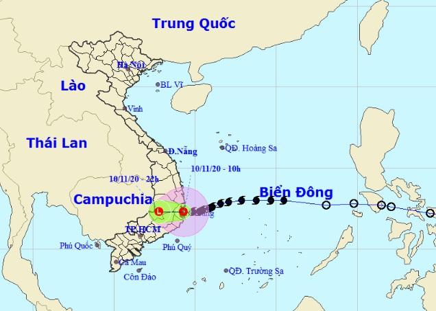 Bão số 12 đang đổ bộ Bình Định – Ninh Thuận, miền Trung mưa to - hình ảnh 1
