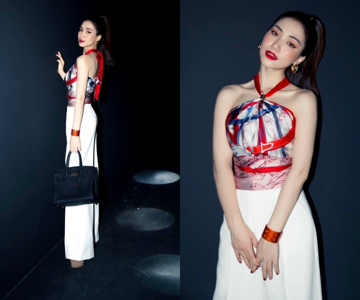 Hàng loạt người đẹp Việt lấy khăn làm áo - hình ảnh 7