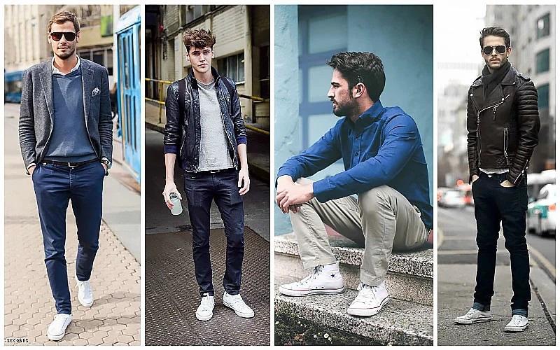 Bí quyết phối giày Converse đen, trắng chuẩn mực cho các chàng sành điệu - hình ảnh 4