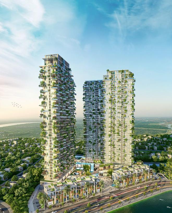 """Mãn nhãn với thiết kế """"nhà trong vườn, vườn trong mây"""" của tháp xanh SolForest Ecopark - 1"""