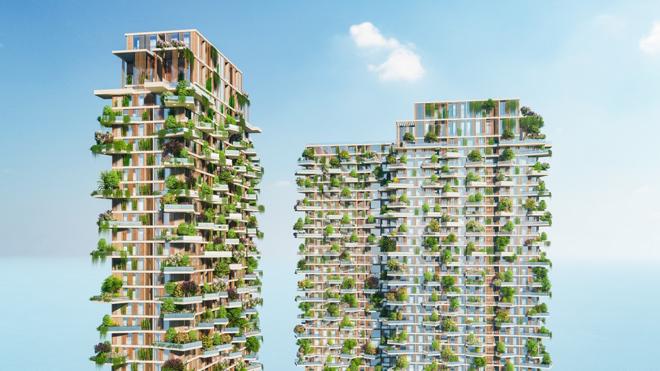 """Mãn nhãn với thiết kế """"nhà trong vườn, vườn trong mây"""" của tháp xanh SolForest Ecopark - 2"""