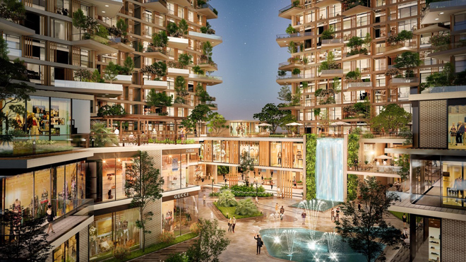 """Mãn nhãn với thiết kế """"nhà trong vườn, vườn trong mây"""" của tháp xanh SolForest Ecopark - 3"""