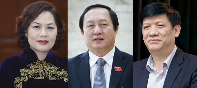 Phê chuẩn bổ nhiệm 2 Bộ trưởng Y tế và KH-CN, Thống đốc NHNN với tỉ lệ phiếu từ 92,09%-97,08% - 1