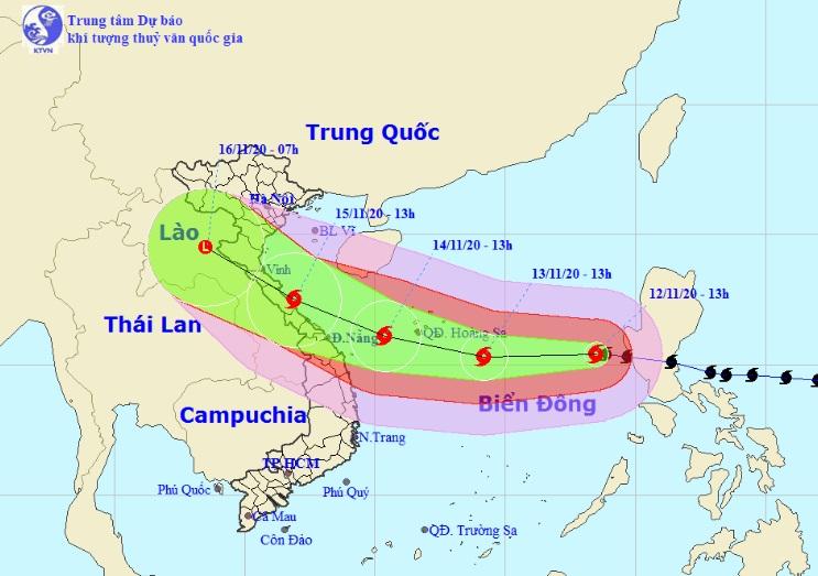 Bão số 13 Vàm Cỏ hướng đi dị thường như bão Hải Yến năm 2013 - hình ảnh 1