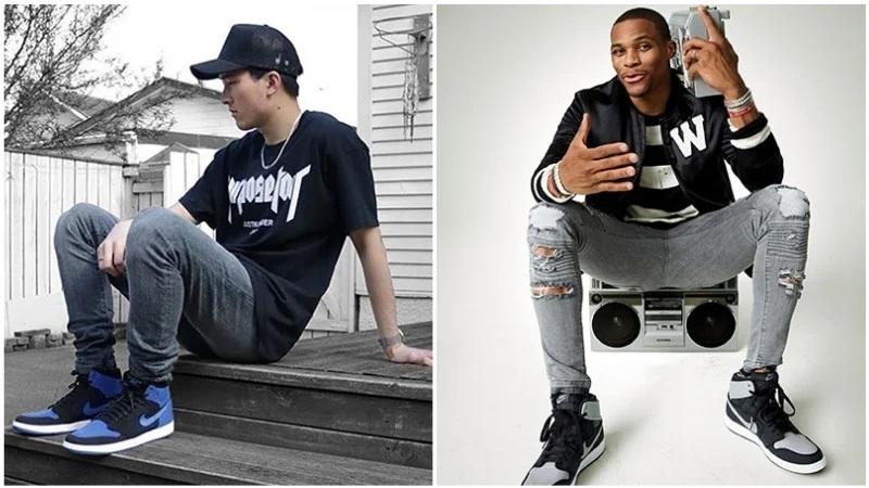 Bí quyết phối quần jean với đôi giày sneaker Jordan huyền thoại - hình ảnh 7