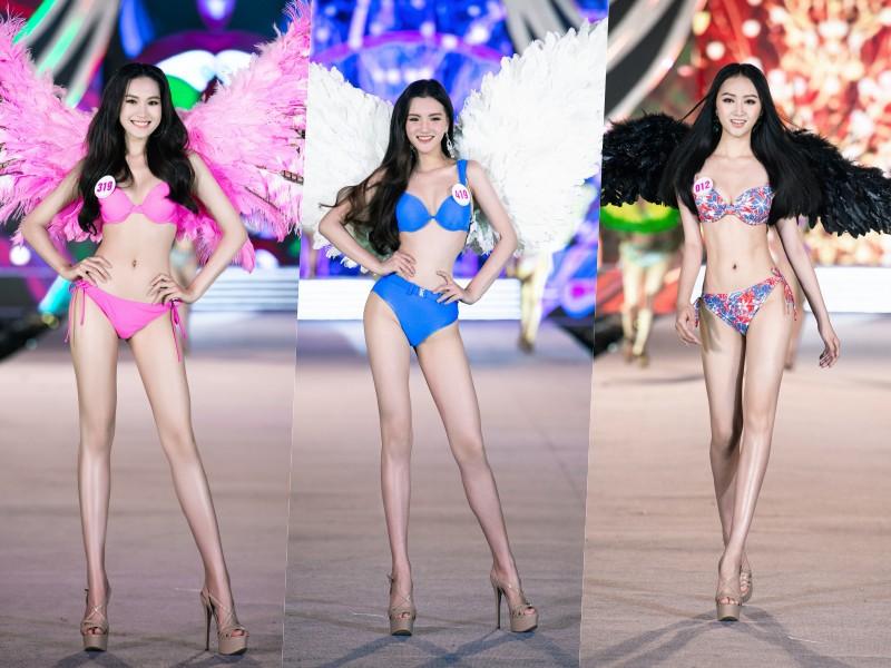 Cận cảnh top 35 Hoa hậu Việt Nam khoe body thật căng tràn với bikini - hình ảnh 3