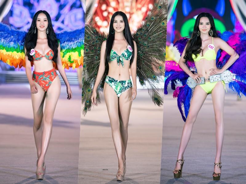 Cận cảnh top 35 Hoa hậu Việt Nam khoe body thật căng tràn với bikini - hình ảnh 4