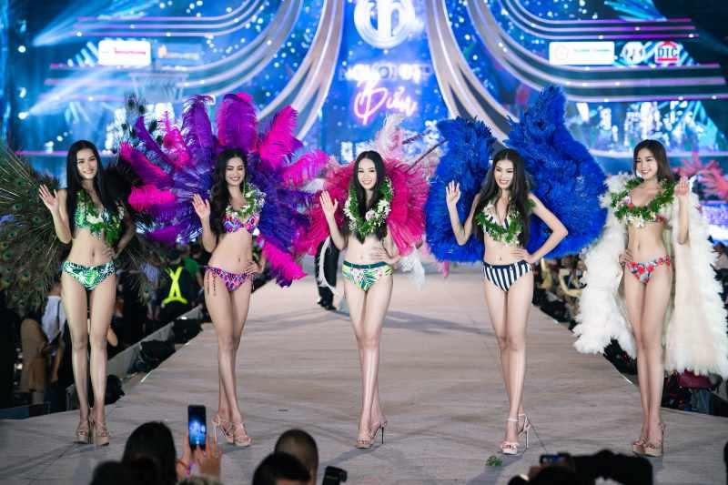 Cận cảnh top 35 Hoa hậu Việt Nam khoe body thật căng tràn với bikini - hình ảnh 5