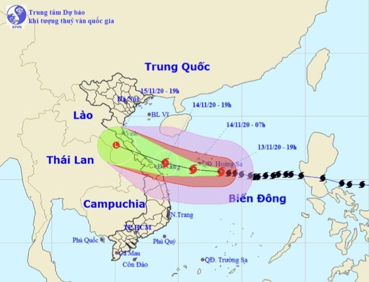 Bão số 13 bất ngờ tăng cấp, gió giật cấp 16 hướng vào Hà Tĩnh – Thừa Thiên Huế - hình ảnh 1