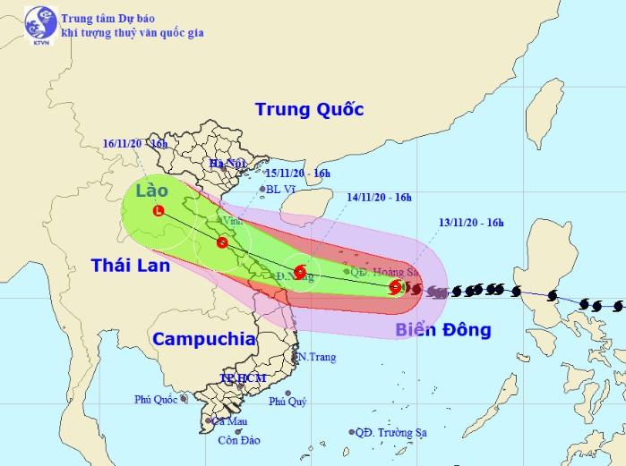 Bão số 13 di chuyển nhanh vào miền Trung, những tỉnh nào nằm trong tâm bão? - hình ảnh 1
