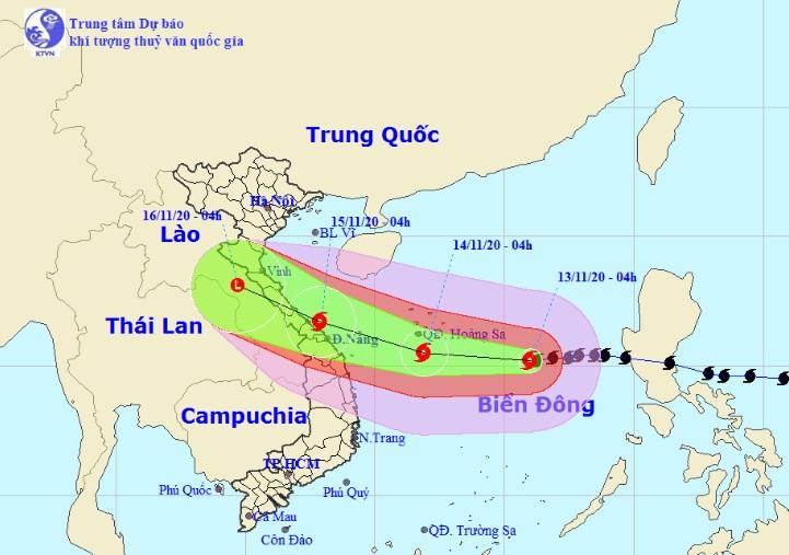 Diễn biến mới nhất của bão số 13 Vamco đang hướng vào Hà Tĩnh – Thừa Thiên Huế - 1