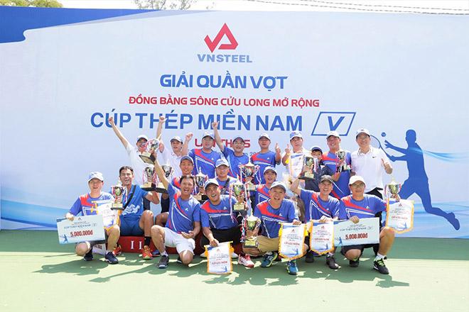 Giải quần vợt Đồng bằng sông Cửu Long mở rộng Cúp Thép Miền Nam /V/ lần thứ 5 tổ chức thành công - 1