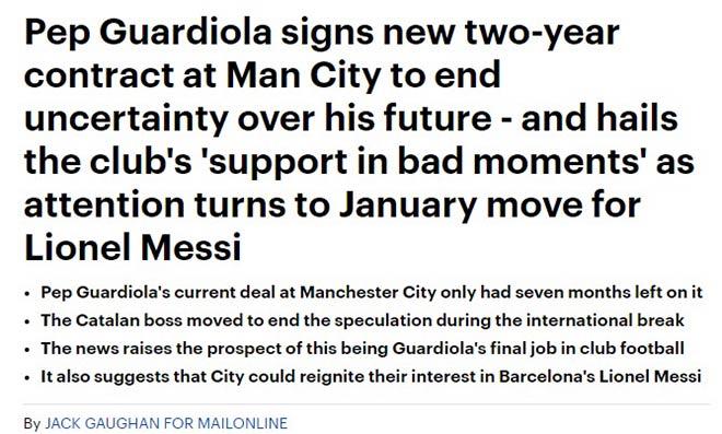 Man City giữ Guardiola: Fan dự đoán Messi sắp đến, Ngoại hạng Anh phải run - 3