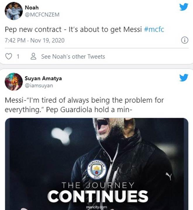 Man City giữ Guardiola: Fan dự đoán Messi sắp đến, Ngoại hạng Anh phải run - 4