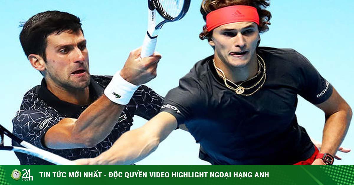 Trực tiếp tennis Djokovic - A.Zverev: Kịch chiến vì tấm vé bán kết (ATP Finals)
