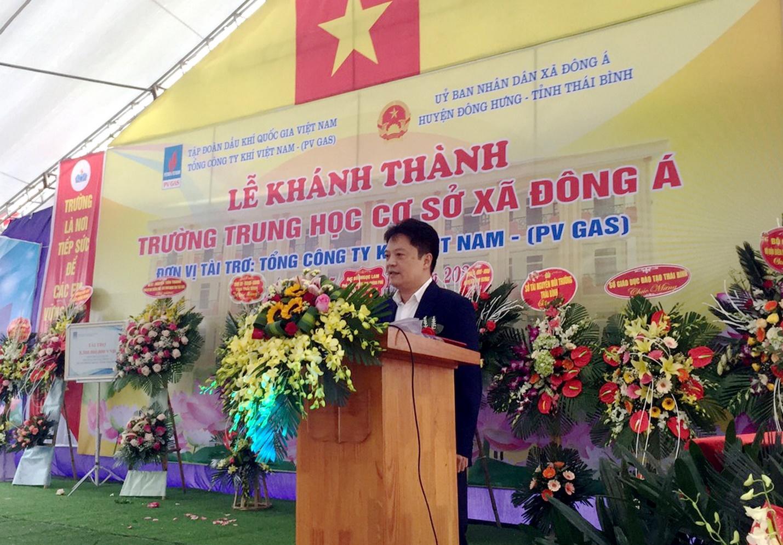 PV GAS tài trợ xây dựng Trường THCS Đông Á, Thái Bình - 1