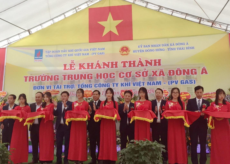 PV GAS tài trợ xây dựng Trường THCS Đông Á, Thái Bình - 2