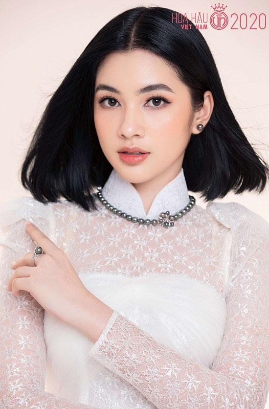 Ngây ngất nhan sắc của người đẹp tóc ngắn nhất Hoa hậu Việt Nam 2020 - hình ảnh 1