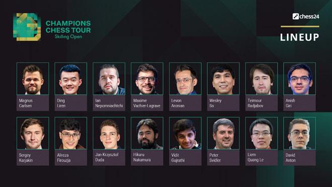 Quang Liêm đấu Vua cờ Carlsen ở giải gồm 16 cao thủ hàng đầu hành tinh - 2