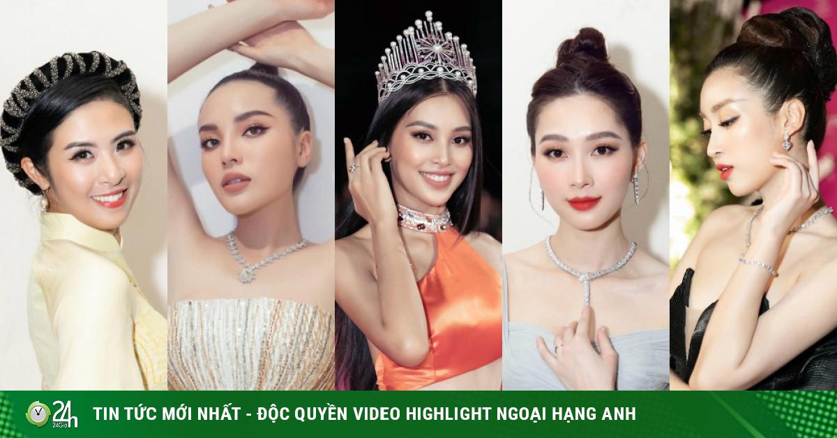 Nhan sắc của 5 cựu hoa hậu từ thảm đỏ tới hậu trường đêm CK Hoa Hậu Việt Nam 2020