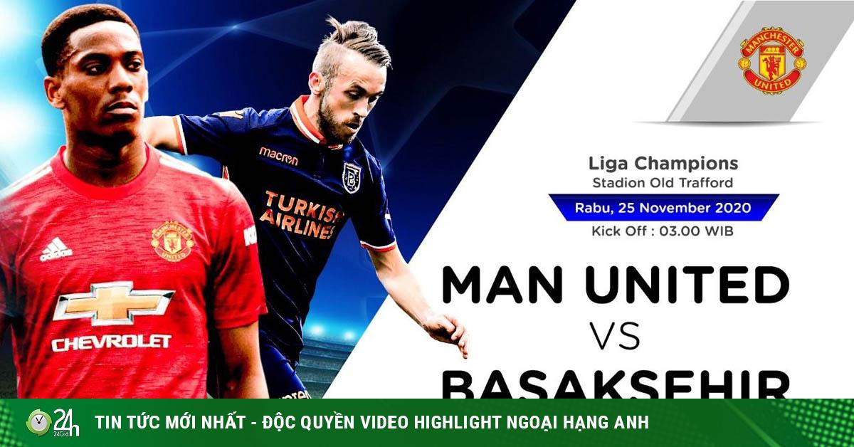 Trực tiếp bóng đá cúp C1 MU - Istanbul Basaksehir: Quỷ đỏ run rẩy trả hận