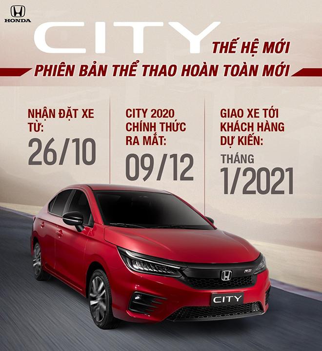Honda City 2020 sắp ra mắt thị trường Việt Nam