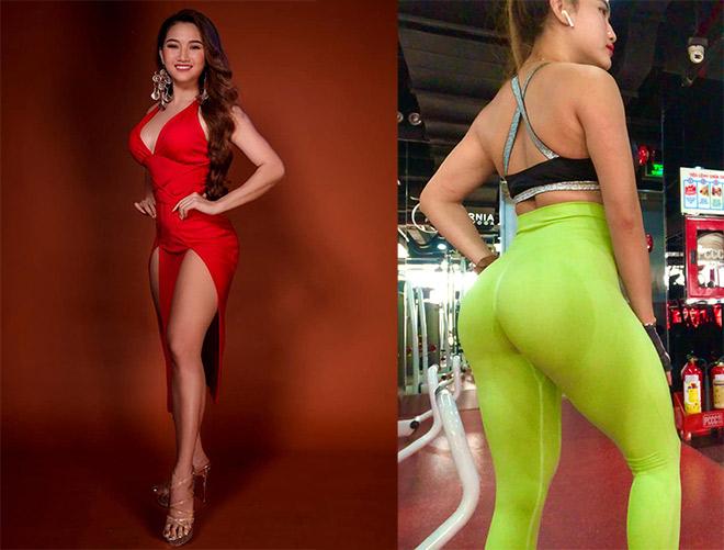 """Nữ sinh Cẩm Tiên mê gym, """"lột xác"""" nóng bỏng với vòng ba 100cm - 11"""