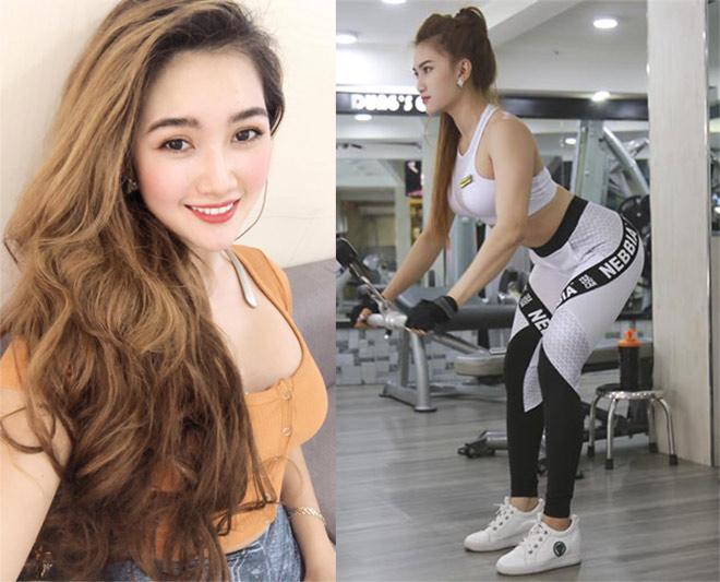 """Nữ sinh Cẩm Tiên mê gym, """"lột xác"""" nóng bỏng với vòng ba 100cm - 8"""