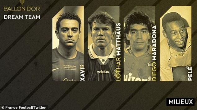 """Siêu đội hình """"Quả bóng Vàng"""" trong mơ: Messi - Ronaldo sánh vai các huyền thoại - 2"""