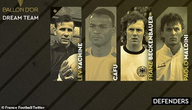 """Siêu đội hình """"Quả bóng Vàng"""" trong mơ: Messi - Ronaldo sánh vai các huyền thoại - 1"""