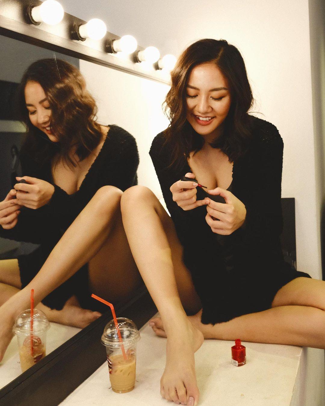 Văn Mai Hương body ngày càng tuyệt mỹ, 3 vòng căng nuột nhờ giảm cân bằng… men - hình ảnh 4
