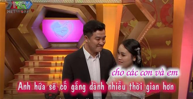 Mạnh Hưng cảm ơn vì vợ đã luôn chăm lo, vun vén cho tổ ấm nhỏ