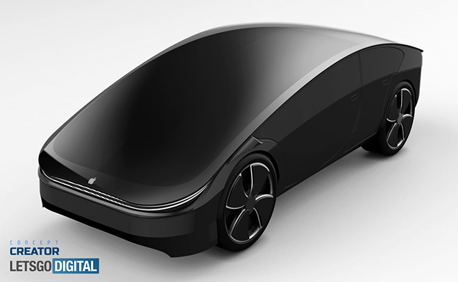 Ngỡ ngàng vẻ đẹp thiết kế Apple Car - 1