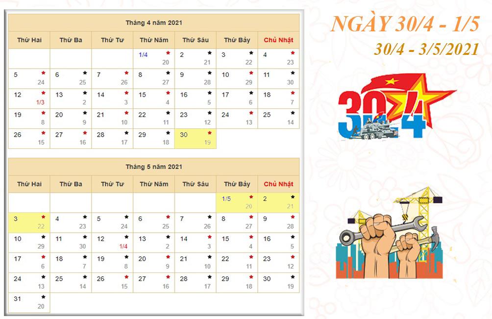 Lịch nghỉ chi tiết các ngày lễ, Tết trong năm 2021 - hình ảnh 4