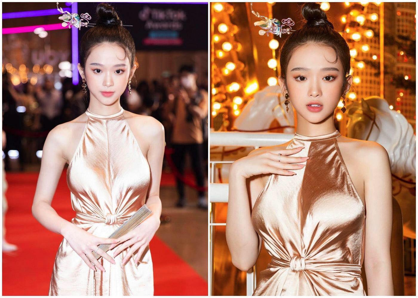 Linh Ka thu hút sự chú ý vào vòng 1 vì mặc váy lụa không nội y - hình ảnh 2
