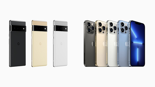Màn đọ sức Pixel 6 Pro và iPhone 13 Pro Max